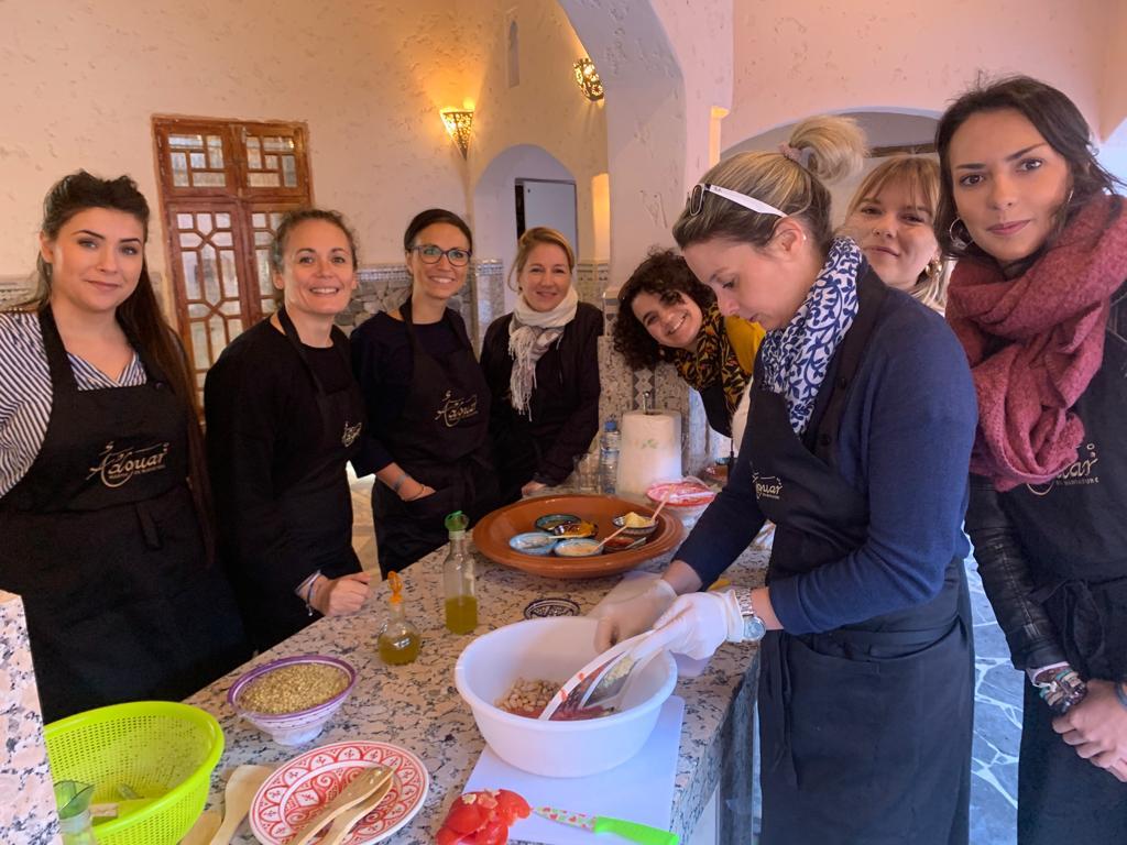 Le cours de cuisine